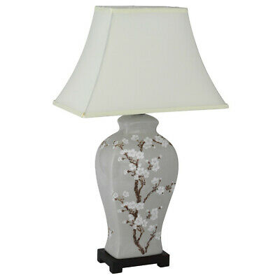 £65 • Buy Hand Painted Cherry Blossom Ceramic Table Lamp