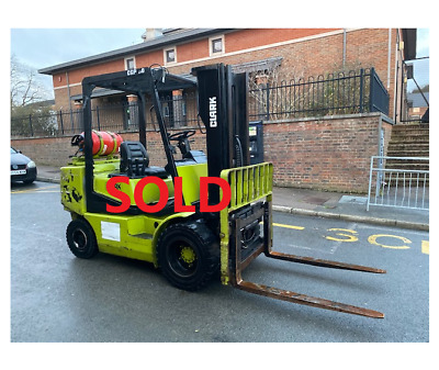 Clark CGP30 Gas Forklift, Container Spec, Free Mast, 3 Ton Lift • 3,750£