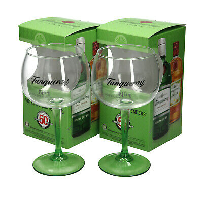 2 X Tanqueray  No1 Gin Large Green Steamed Balloon Glass.  • 13.99£
