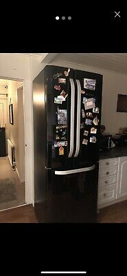 Hotpoint American *Frost Free* Fridge Freezer Black • 350£