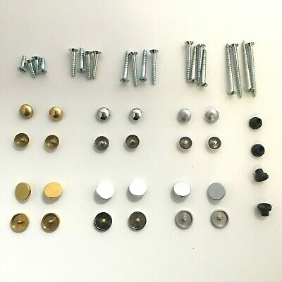 £2.99 • Buy Mirror Screws - Choice Of Dome Or Disc Caps In Brass, Chrome & Satin Finish