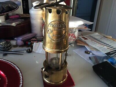 Vintage Authentic Miners Safety Lamp The Protector Lamp & Lighting Co Ltd • 39.99£