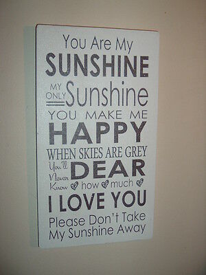 YOU ARE MY SUNSHINE Plaque Shabby Vintage Chic Sign Large 12x6 Christmas Gift • 10.99£