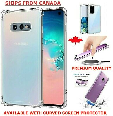 $ CDN4.95 • Buy Clear Case For Samsung Galaxy S20 FE S10 S10e S9 S8 Plus Bumper Shockproof Cover