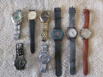 $ CDN9.95 • Buy Men's Watch Lot 8 Complete Seiko Elgin Timex Some Working Or Parts/Repair
