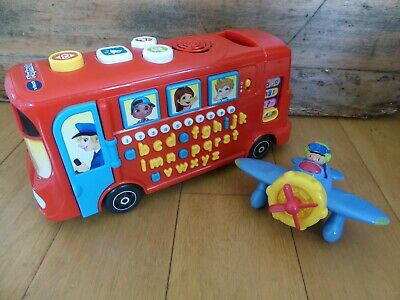 VTech Playtime Bus With Phonics & Talking Areoplane Toy Bundle • 5£