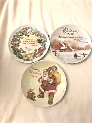 3 Gibson Christmas 1982 Decorative Plates Japan • 6.74£