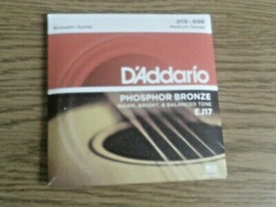 $ CDN9.02 • Buy D'addario Acoustic Guitar Strings EJ17 Phos Bronze Med Gauge .013-.056(1pk)