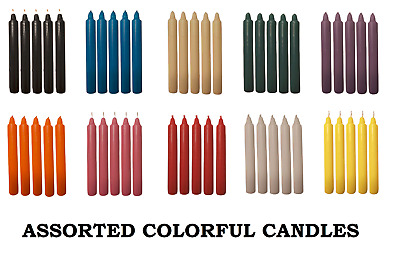 £6.48 • Buy Dinner Candles Bistro Tapered Candels Home Party Church UK Assorted Color Packs