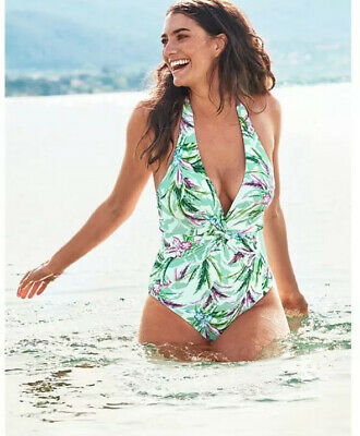 Figleaves At Next Size 10 Long / Tall Floral Swimming Costume / Swimsuit Bnwt • 25£