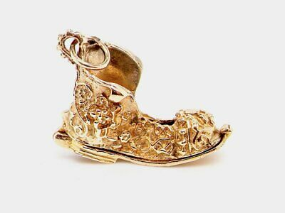 £240 • Buy 9ct Gold Old Boot Worker & Dog Charm