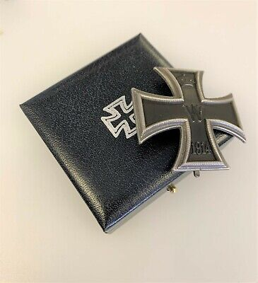 Imperial German WW1 1914 Iron Cross 1st Class In Presentation Case Antiqued • 39.50£