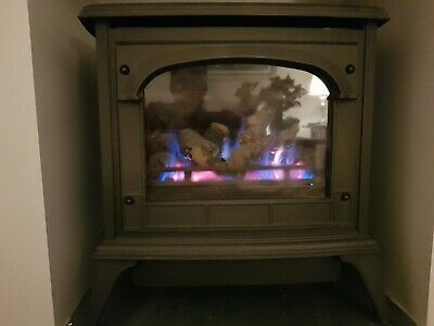 Gazco Clarendon Natural Gas Stove Matt Black With Logs And Clear Glass • 99.99£
