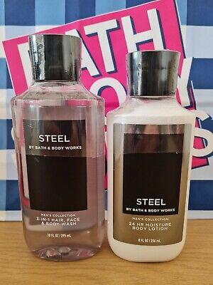 £20.99 • Buy Bath And Body Works Men's Collection Steel Shower Gel And Body Lotion Set