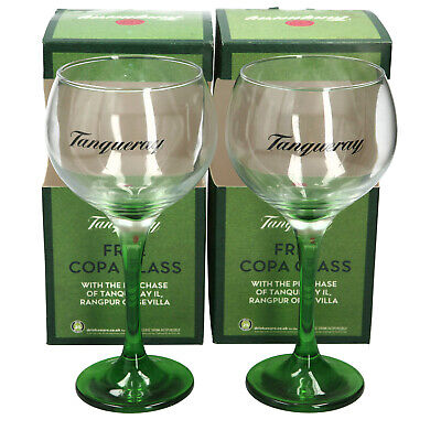 2 X Tanqueray Gin Large Green Steamed Balloon Glass. BOXED.COLLECTABLES New Desi • 13.99£