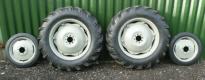 £1219 • Buy TRACTOR RIMS & TYRES REARS / FRONTS  COMPLETE SET OF 4 12.4 X 28 + 400 X 19
