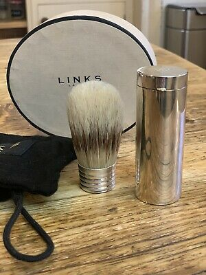 Links Of London Solid Silver Shaving Badger Brush Never Used Mint Condition  • 22£