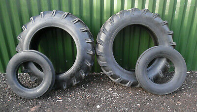 £729 • Buy TRACTOR TYRES REARS / FRONTS  COMPLETE SET OF 4 12.4 X 28 + 600 X 16