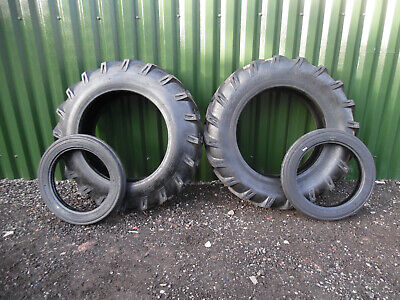 £729 • Buy TRACTOR TYRES REAR / FRONT  COMPLETE SET OF 4     12.4 X 28 + 400 X 19