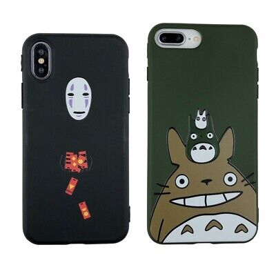 Cute Cartoon Happy Totoro Case Anime No Face Cover For IPhone 12 Pro Max 11 XR 6 • 5.50£
