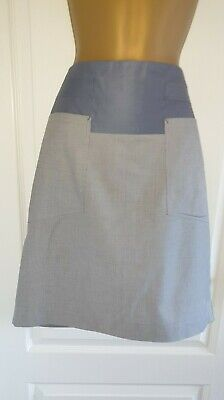 St Martins Grey Patched Pencil Skirt Size 38 / 10 • 2.99£