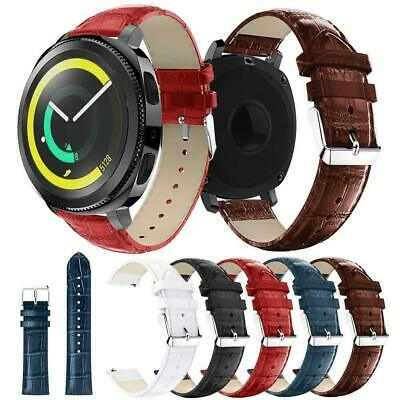 £5.95 • Buy For Various Samsung Galaxy SmartWatches Replacement Crocodile Leather Strap