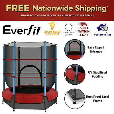 AU105.51 • Buy 4.5FT Trampoline Round Trampolines Kids Enclosure Jumping Safety Net Outdoor New