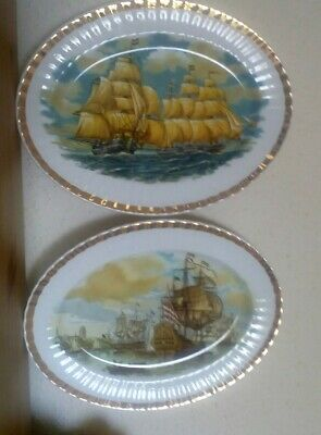 2  Large Vintage Fine Bone China Plates • 18.80£