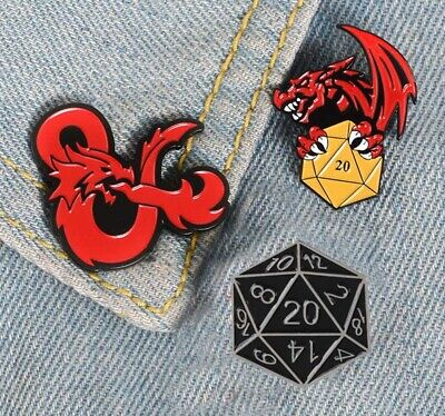 Dungeons & Dragons Enamel Metal Pin Badge Brooch 1pc • 3.95£