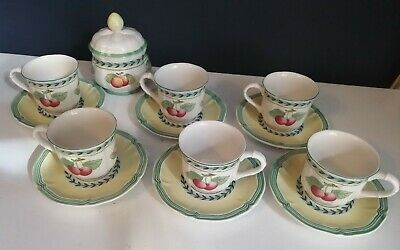 Villeroy & Boch French Garden Coffee  / Espresso Cups / Cans / Sugar Bowl • 45£