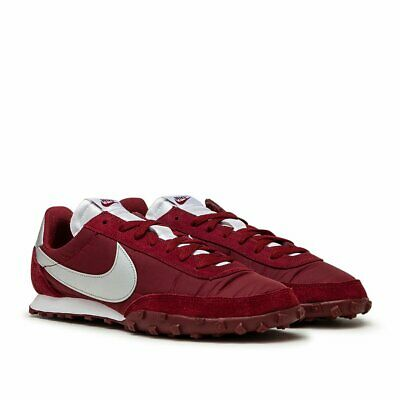 Nike Waffle Racer UK Size 8 Men's Trainers Leather Red White • 65.99£