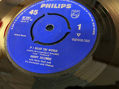 Harry Secombe - If I Ruled The World - Look Into Your Heart - 1963 - Excellent • 2.99£