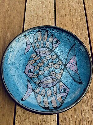 Mid-Century Well House Studio Pottery, Paignton Hand Made Fish Side Plate • 15£