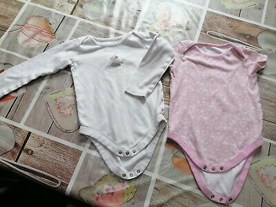Two Pairs Of Bodysuit Age 2-3 • 1.39£