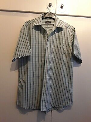 Lincoln Green Checked Short Sleeve Shirt, Size Medium • 1.60£