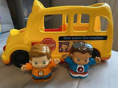 VTECH TOOT TOOT School Bus & 3 Vehicles Bundle ** French Version** • 6£