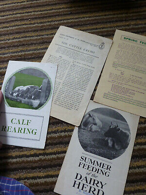 Old Booklets Calf Rearing Dairy Herd Cattle Crush How To Rear Cows Handling • 11.99£