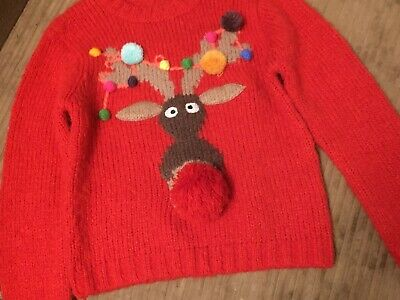 Next Rudolph Jumper Age 7 Light Up • 0.99£