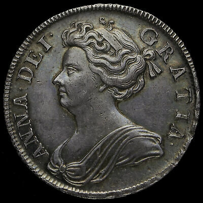 £1150 • Buy 1708 Queen Anne Early Milled Silver Septimo Half Crown, EF