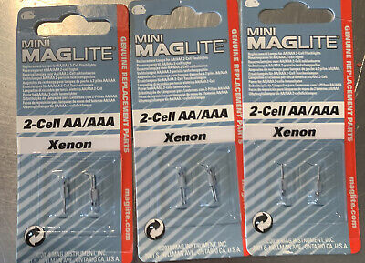 3 Pack MAGLITE REPLACEMENT BULB FOR MINI MAG-LITE SOLITAIRE LIGHT (6 BULBS) • 7.48£