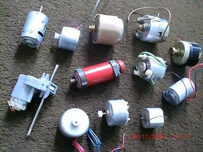 12 Small DC Electric Motors For Models, Robots, Etc. • 6£