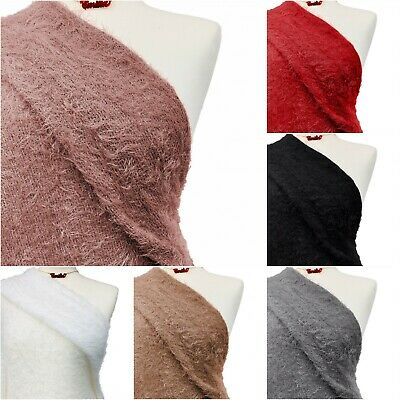 £6 • Buy Mohair Jersey Fabric Premium Quality Stretch Soft Knit Loungewear Plush Material