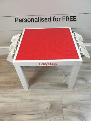 LEGO Table All RED Base Plate Organised Storage Play Set Up Personalised  • 45£