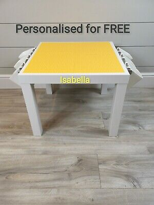 LEGO Table All YELLOW Base Plate Organised Storage Play Set Up Personalised  • 45£
