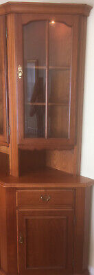 Younger Furniture End Unit With Display Cabinet And Cupboard • 40£
