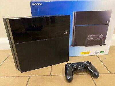 AU199 • Buy Sony PlayStation 4 PS4 Black 500 GB Console + Controller And All Cords