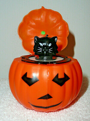 $ CDN25.94 • Buy Vintage Plastic Halloween JOL Pop-Up Black Cat Pumpkin Squeaker