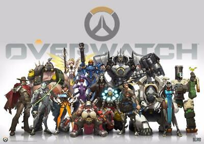 AU9.05 • Buy Overwatch Heroes Soldiers Video Game Art Wall Chart Print Poster Picture A4 +