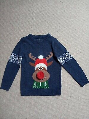 Next Boys Light Up Rudolph Jumper Age 7 Excellent Condition • 3.99£