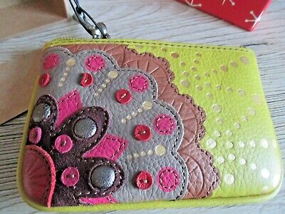 Fossil Pistachio Green /multi Leather Purse New /boxed • 12.99£
